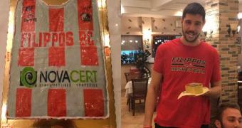 Την πρωτοχρονιάτικη πίτα του έκοψε το ανδρικό τμήμα μπάσκετ του ΦΙΛΙΠΠΟΥ