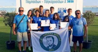 Νέες διακρίσεις στο Πανελλήνιο πρωτάθλημα Παμπαίδων και Παγκορασίδων για τον Βικέλα Βέροιας